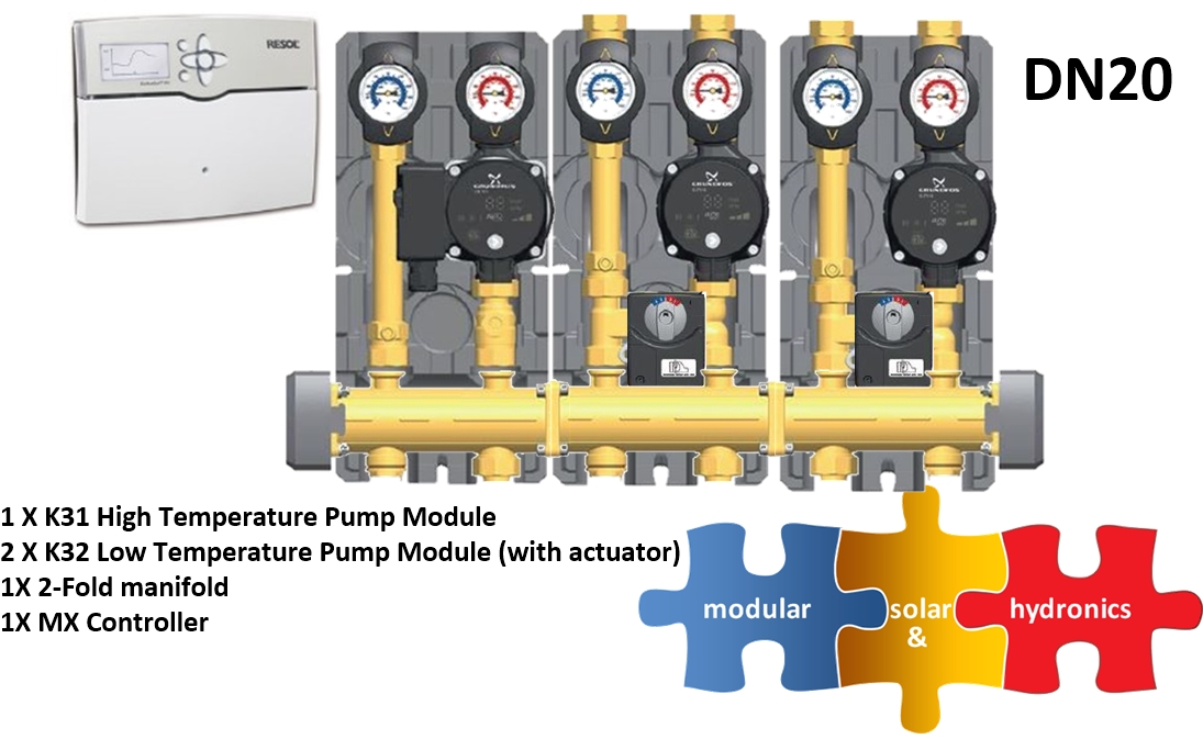DN20 1 high two low zone new pump image