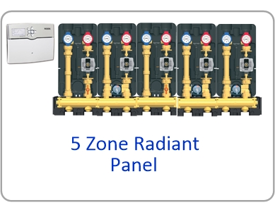 Modular H Website 5 zone panel