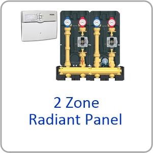 Modular H Website 2 zone panel