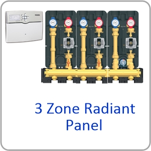 Modular H Website 3 zone panel