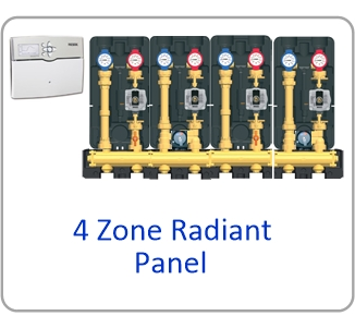 Modular H Website 4 zone panel